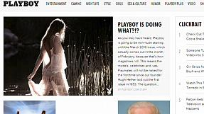 No more nudes in Playboy