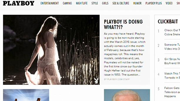 No more nudes in Playboy