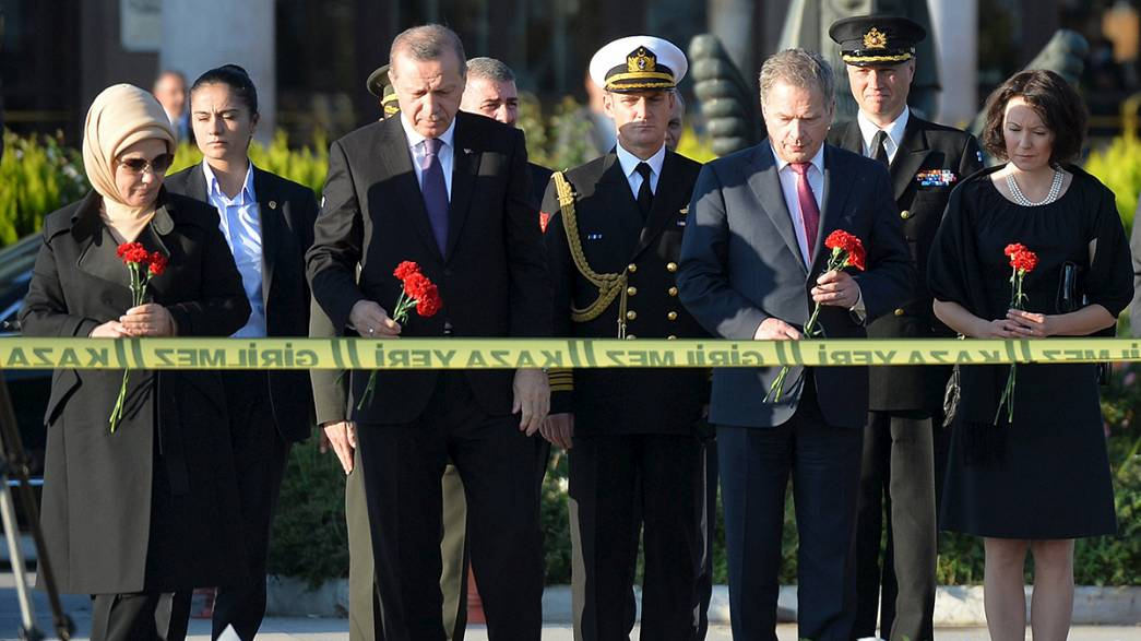 Erdogan visits scene of Ankara twin bomb attack for first time