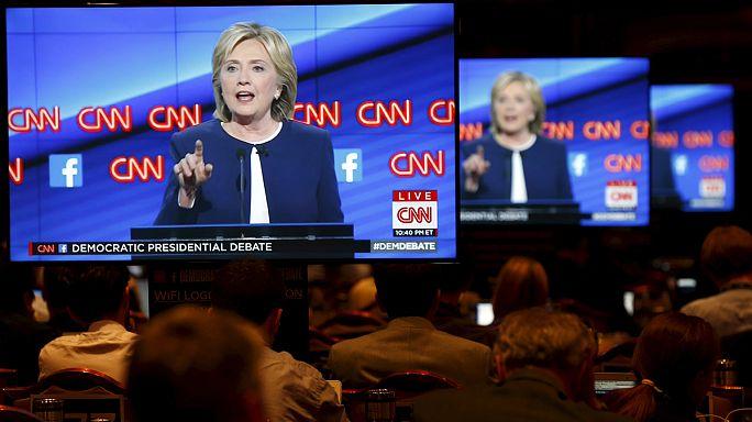 هيلارى كلينتون فى مواجهة ساندرز وأومالي بأول مناظرة لمرشحى الحزب الديمقراطى
