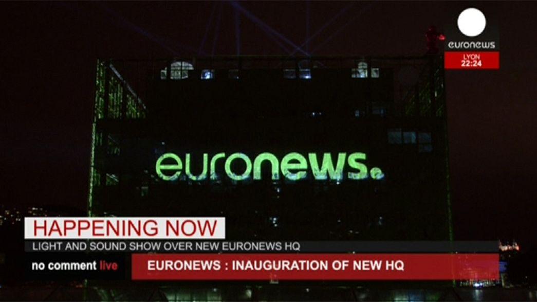 Avrupa'nın en çok seyredilen haber kanalı Euronews yeni genel merkezinde
