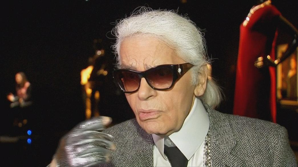 Karl Lagerfeld opens Chanel exhibition at Saatchi Gallery in London