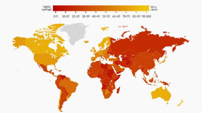 Dünyanın yolsuzluk haritası