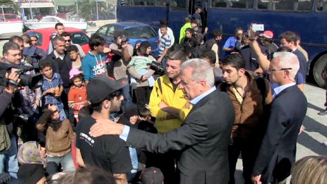 Registrierzentrum für Flüchtlinge auf Lesbos eröffnet