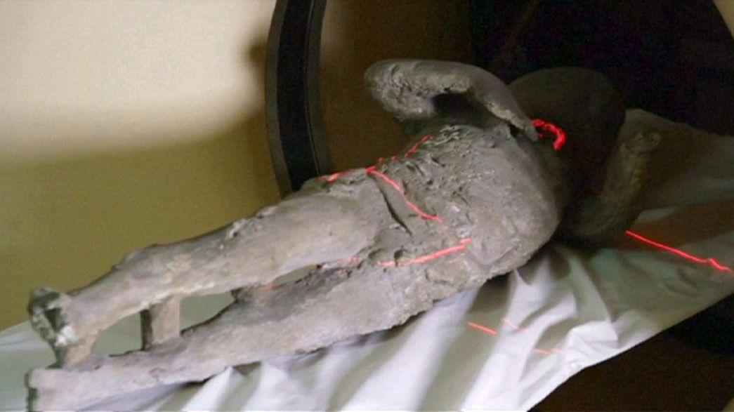 Keine Karies: Pompejis Leichen im Computertomographen untersucht