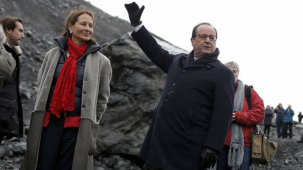 Francois Hollande in land of fire and ice