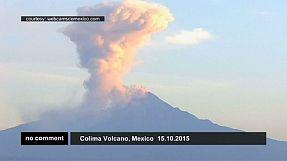 Erupción del volcán de Colima, en México