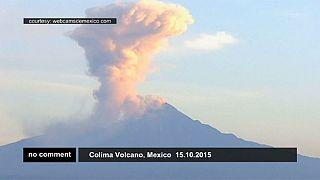 Мексика: извержение вулкана Колима