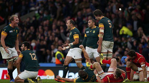 Dél-Afrika az első elődöntős a rögbi vb-n