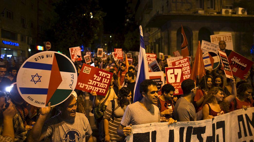 Israelitas e palestinianos manifestam-se juntos pela paz em Jerusalém