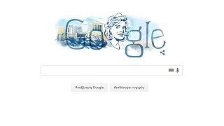 H Μελίνα Μερκούρη  doodle της Google