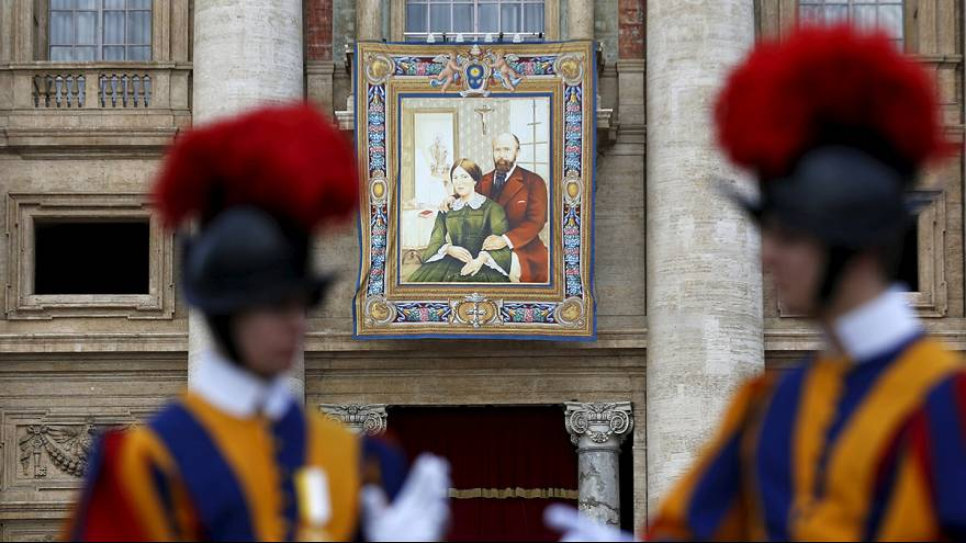 Pope Francis proclaims married couple saints in historic ceremony