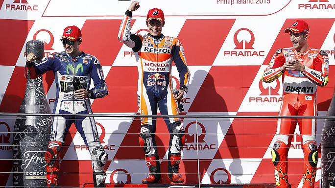 Speed : Marquez vainqueur en Australie, Lorenzo se rapproche de Rossi