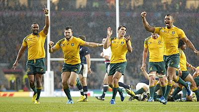 Rugby World Cup 2015: Australia progress to semifinals after 35-34 win over Scotland