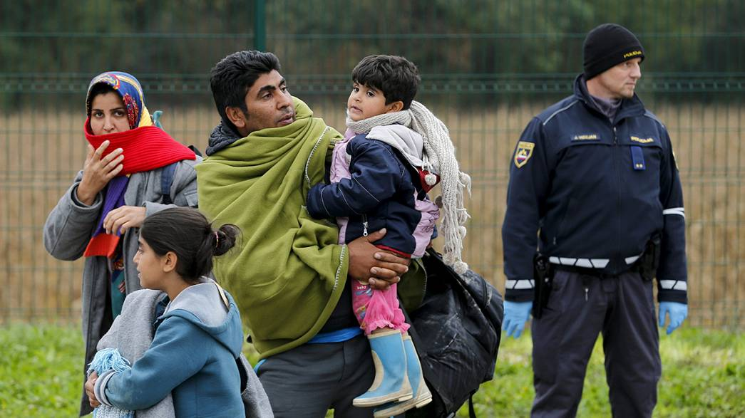 Slovenia can only accept as many migrants as can exit into Austria
