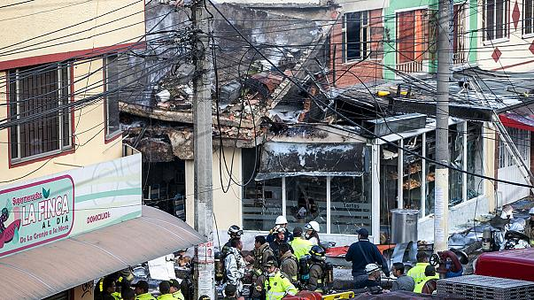 Video: plane crashes into Bogota bakery killing 5 people