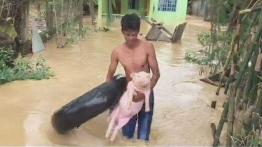 El tifón Koppu azota Filipinas