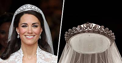 The Cartier Halo tiara is made of diamonds and platinum.