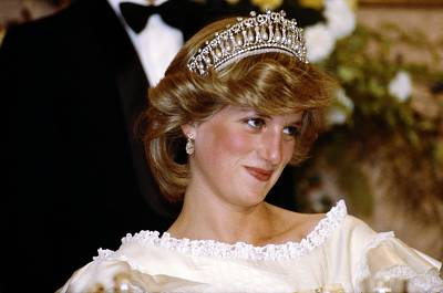 The Cambridge Lover's Knot Tiara, made famous by Princess Diana and also worn by Duchess Kate, contains 19 pearls dangling from diamond arches.