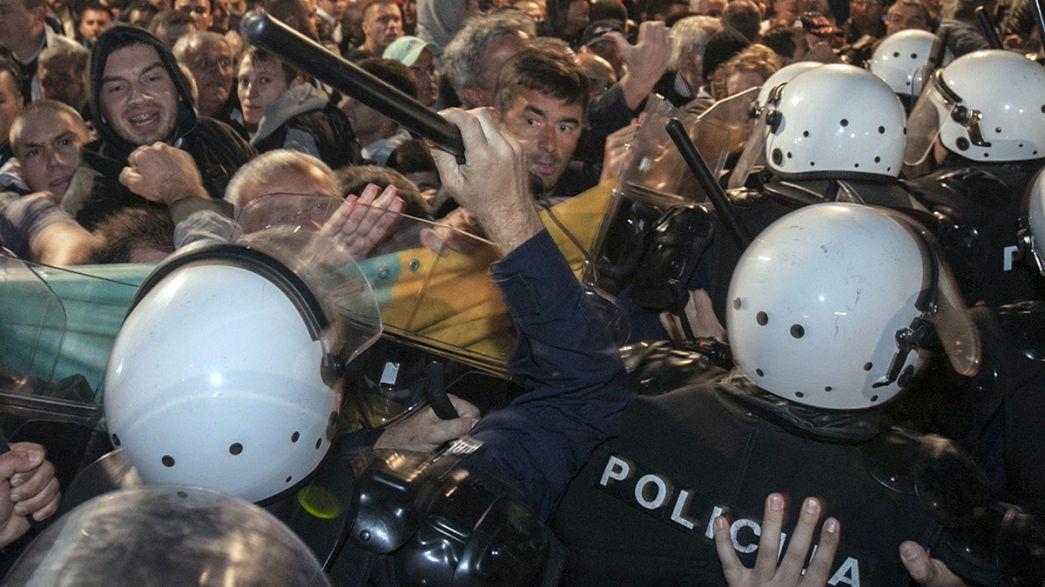 L'opposition monténégrine dans la rue