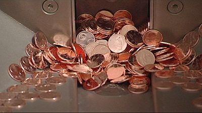 Irlanda tira de circulação moedas de 1 e 2 cêntimos