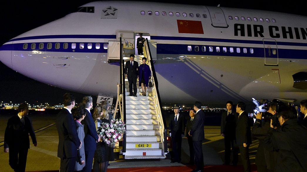 Presidente da China inicia visita oficial de 4 dias ao Reino Unido