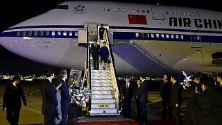 Xi Jinping llega a Londres para una visita de cuatro días