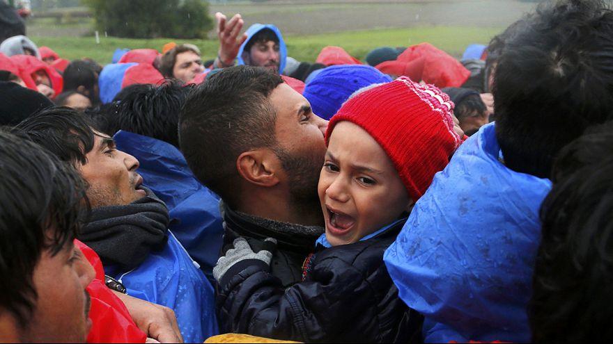 Hırvatistan-Slovenya sınırında göçmen krizi