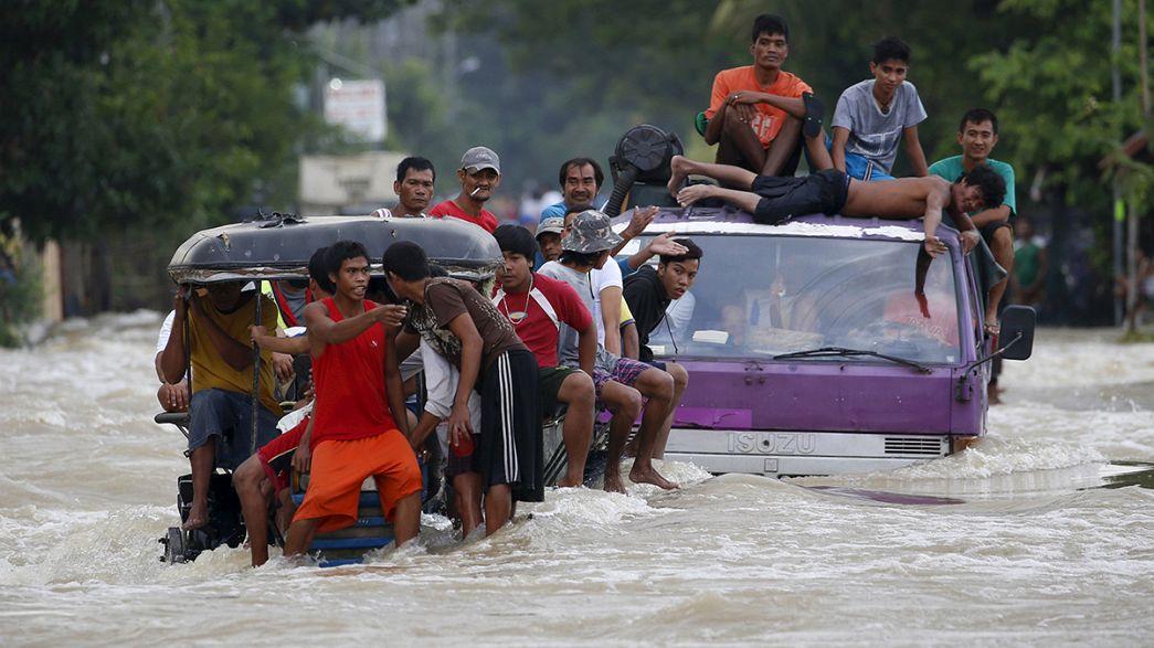 """Taifun """"Koppu"""" sorgt weiter für Überschwemmungen auf den Philippinen"""