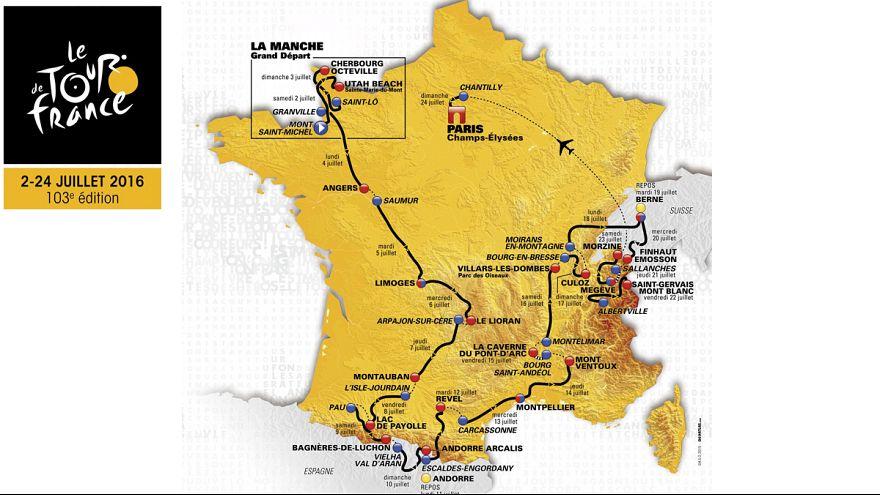 الاعلان عن مسار دورة فرنسا للدرجات 2016