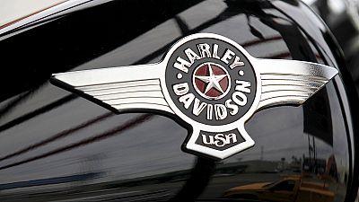 Harley-Davidson fährt bergab