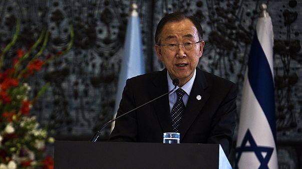 "Ban Ki-moon esorta alla pace israeliani e palestinesi: ""L'Onu è con voi"""