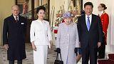 A kínai elnök Londonba érkezett