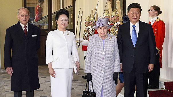 Le président chinois accueilli en grande pompe à Londres