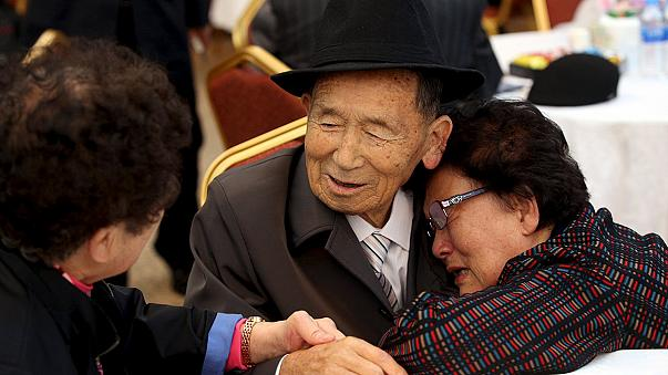Poignant moments as Korean families wrenched by war meet again