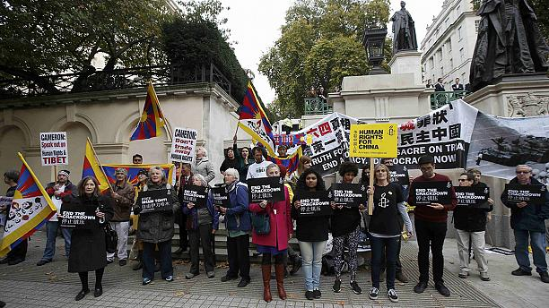 British government under fire from human rights activists over Chinese president visit