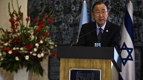 """Ban Ki Moon dice en Jerusalén que """"aún no es tarde"""" para evitar una crisis mayor"""
