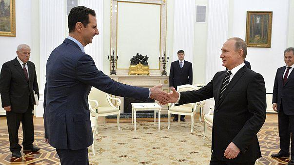 Esad Moskova'da Putin ile görüştü