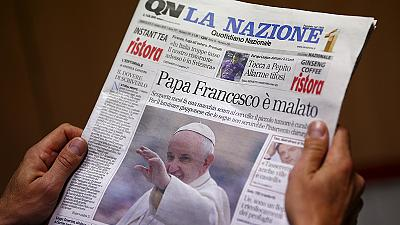 Pope Francis brain tumour report denied by Vatican