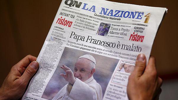 صحيفة إيطالية: البابا قد يكون مصابا بورم في رأسه