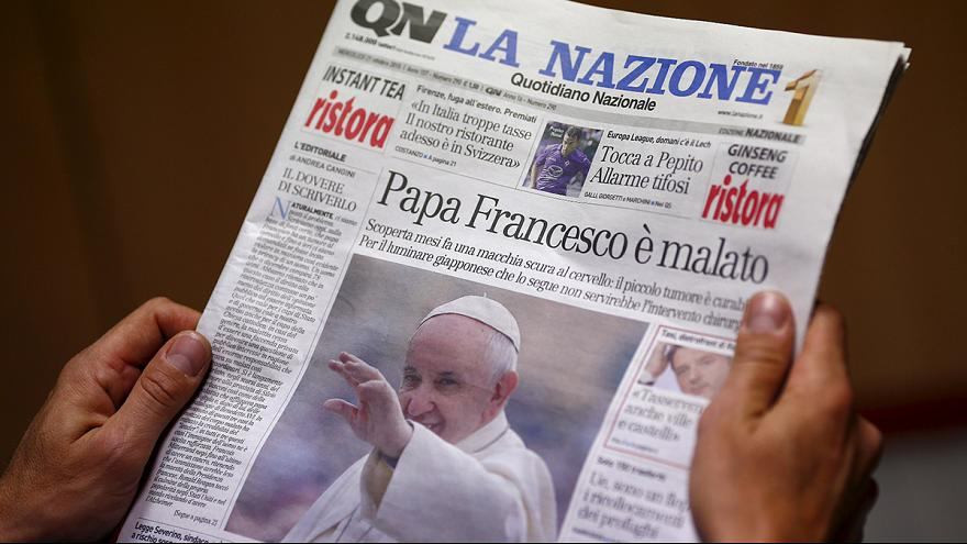 Papa tem tumor benigno, segundo imprensa italiana