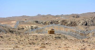 A portion of the fence near Quetta in Pakistan\'s Balochistan province.