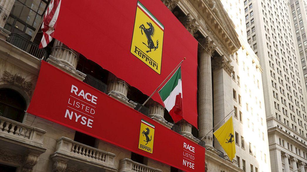 Ferrari a toda a velocidade em Wall Street