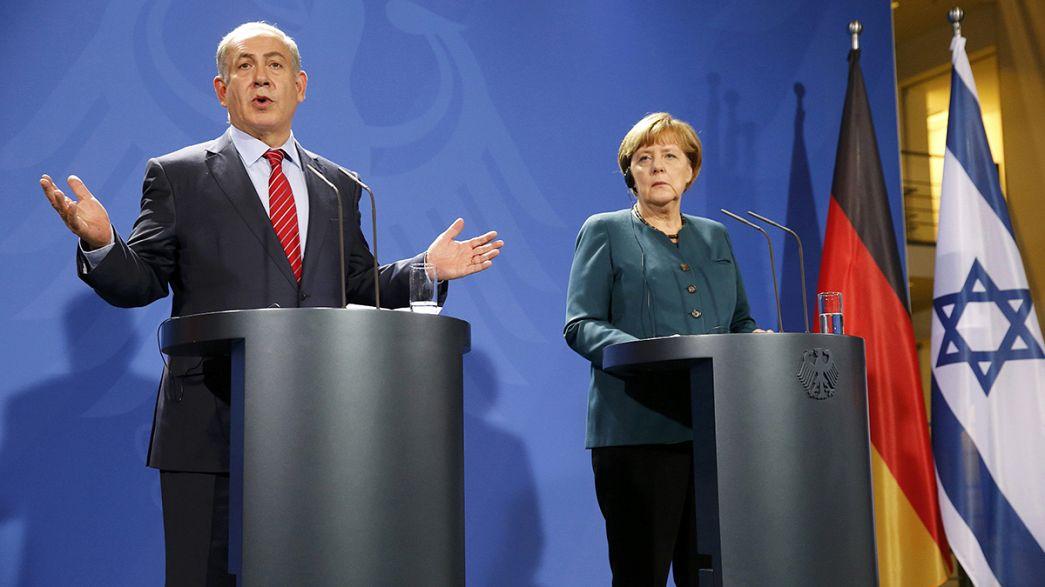 Merkel refuta posição de Netanyahu sobre Hitler e palestinianos