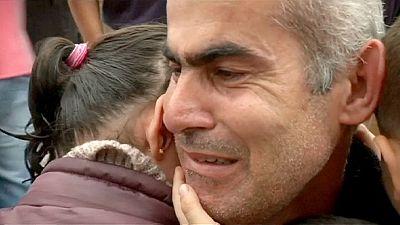 Joyful reunion of Syrian family in Greece