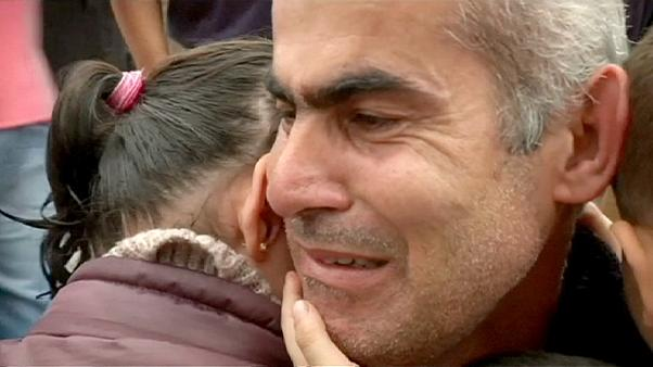 Joyful reunion of Syrian family in Greece
