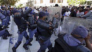 Violences entre étudiants et police en Afrique du Sud