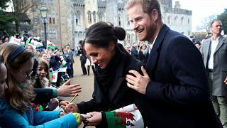 Image: Prince Harry And Meghan Markle Visit Cardiff Castle