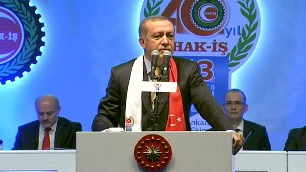 Erdoğan: ''Ankara'daki saldırı terör örgütlerinin ortak eylemi''