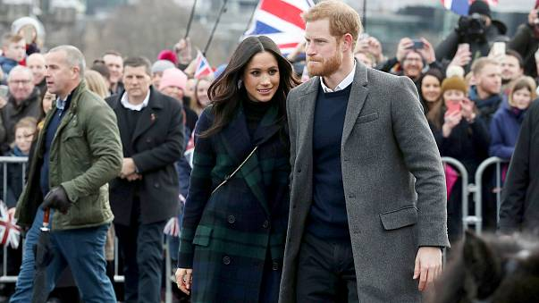 Image: Meghan Markle and Britain's Prince Harry, meet members of the public